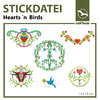 Stickdatei Hearts ´n´ Birds (13 x 18 cm)
