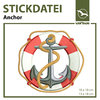 Stickdatei Anchor (10 x 10 cm & 13 x 18 cm)