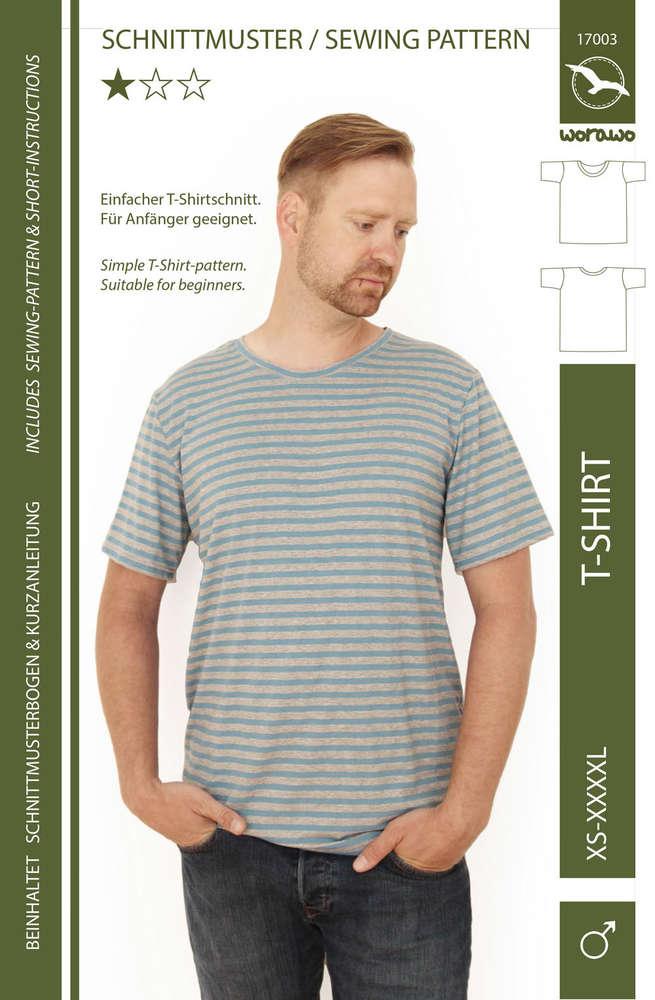 T-Shirt Herren XS- 4XL (Papierschnitt)