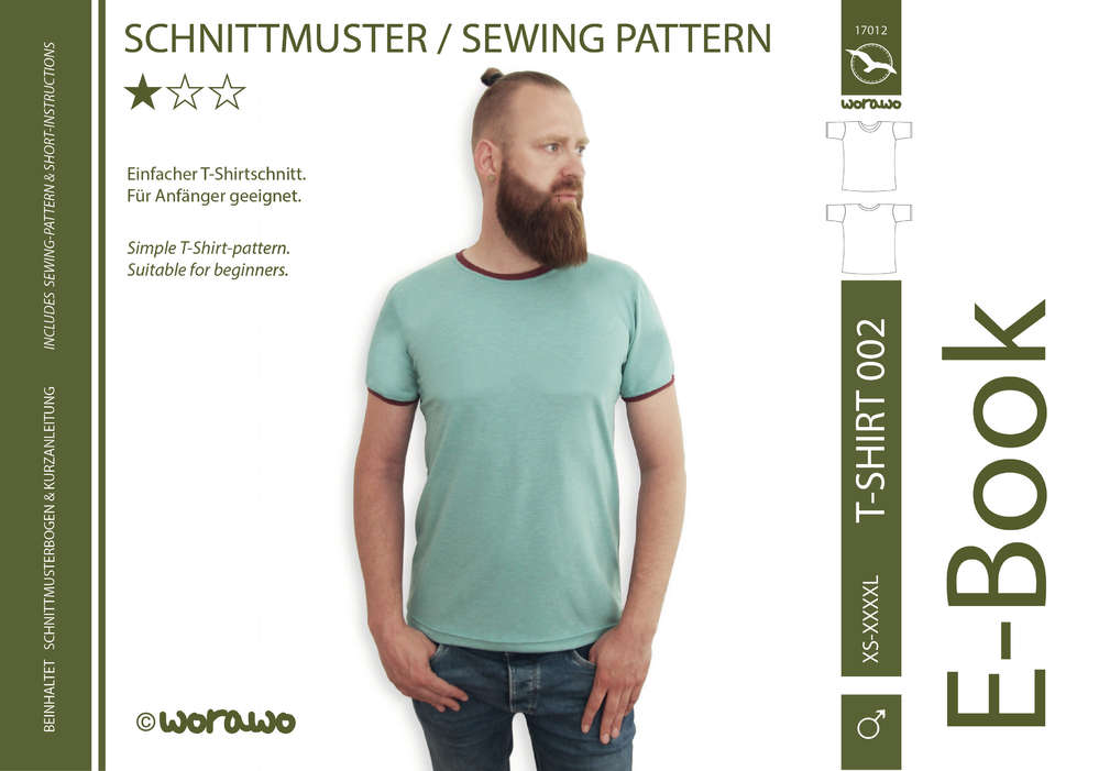 E-Book T-Shirt 002 Herren XS-XXXXL