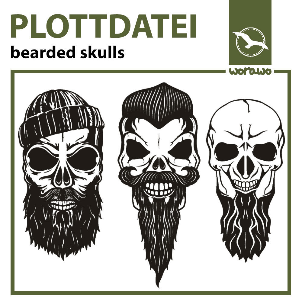 Plottdatei bearded skulls