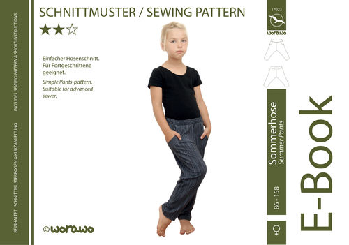 E-Book Sommerhose Kinder 86 - 158