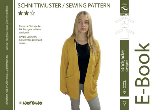 E-Book Strickjacke XS - XXXL